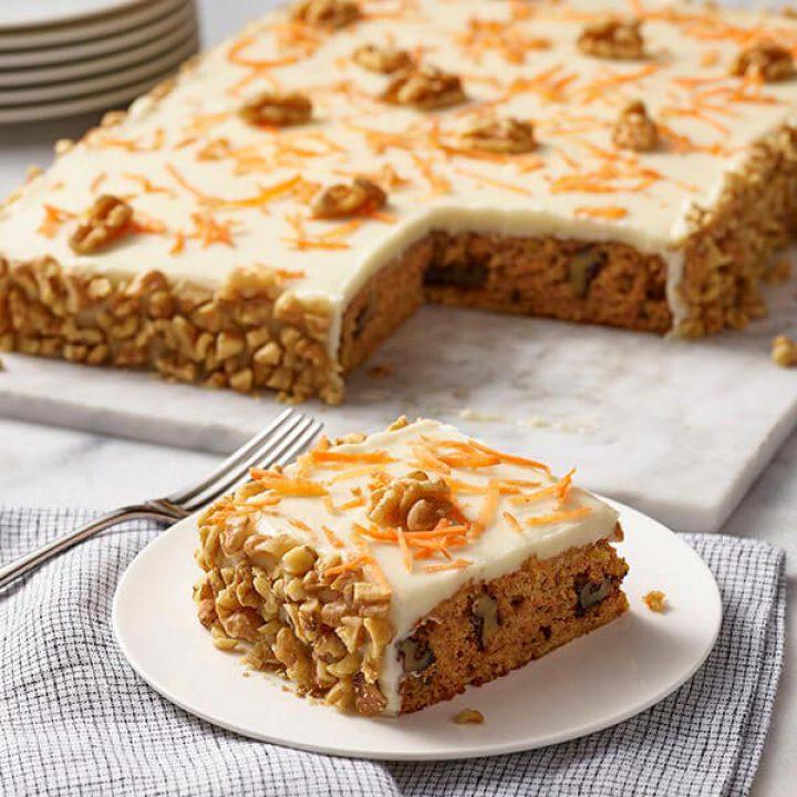 کیک هویج وگان با تاپینگ بادام هندی (بدون گلوتن)