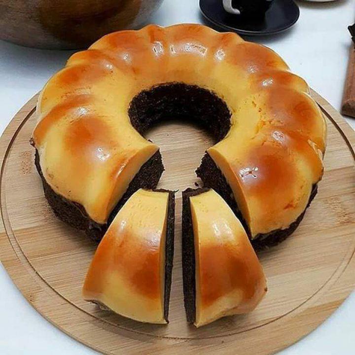 فلن کیک با روکش کاراملی
