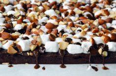 بارهای شکلاتی بادام زمینی مارشمالو