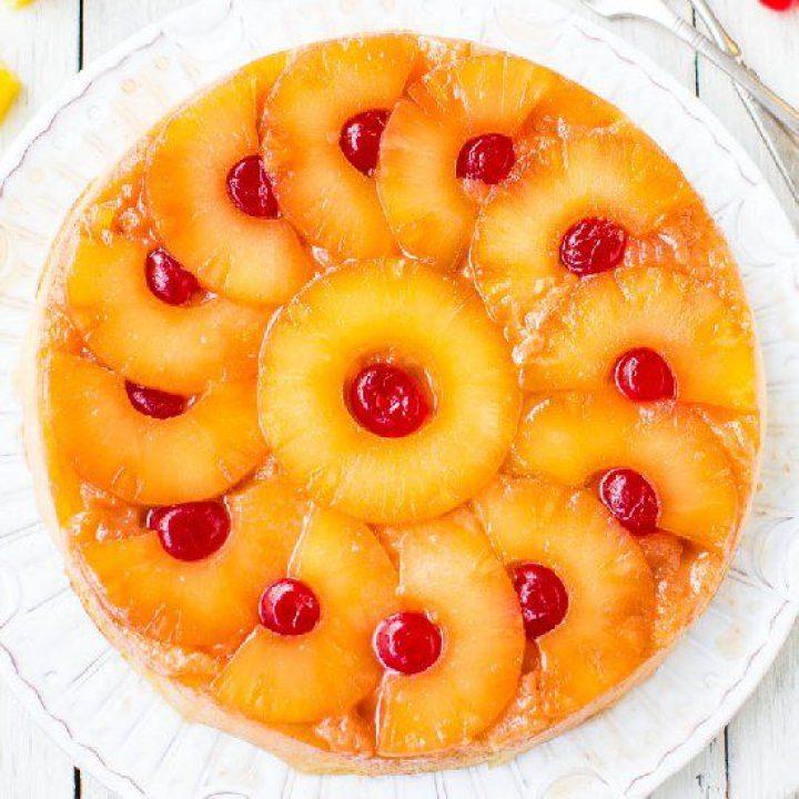 کیک برگردان آناناس