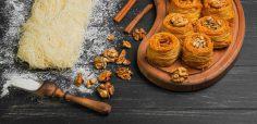 کونفه دسر ترکی با پنیر