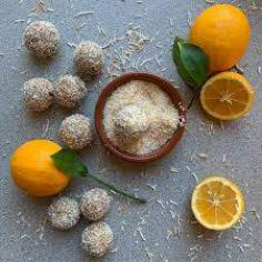 شیرینی نارگیلی پرتقالی بدو فر