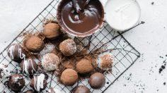توپک شکلاتی با بیسکوئیت اوریو (ترافل شکلاتی)